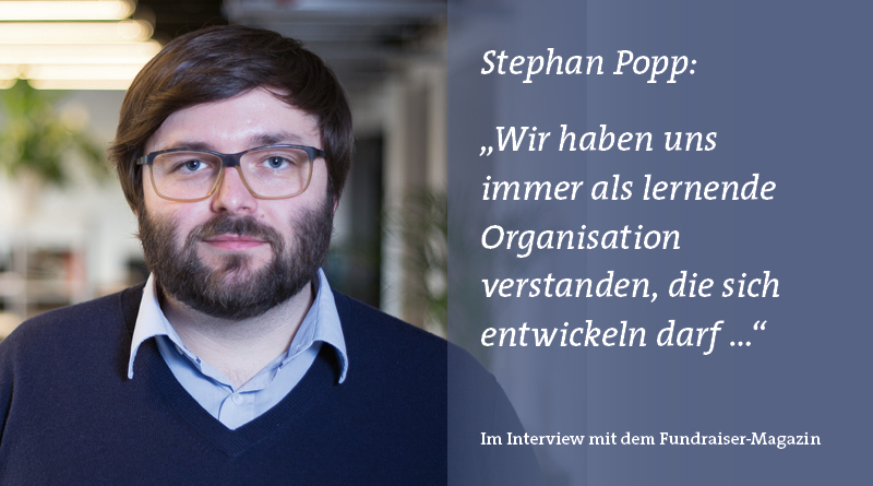 Stephan Popp VisionBakery im Interview mit Fundraiser-Magazin