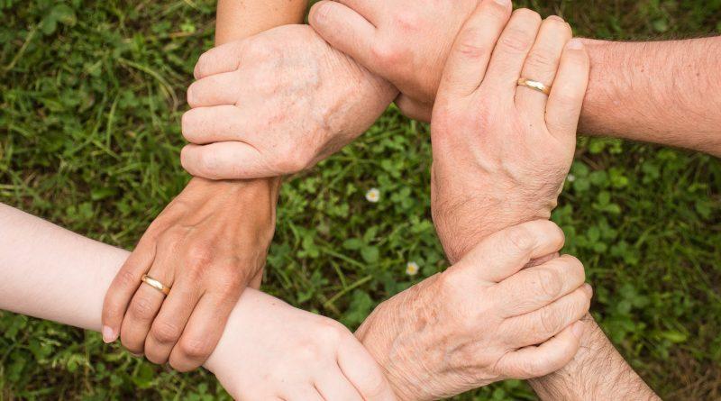 Hände als Symbol für Teamgeist