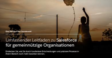 Salesforce for Nonprofits – eine Plattform für den guten Zweck