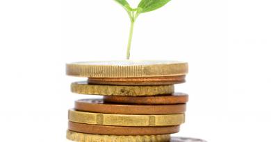 Euromünzen mit Pflanze