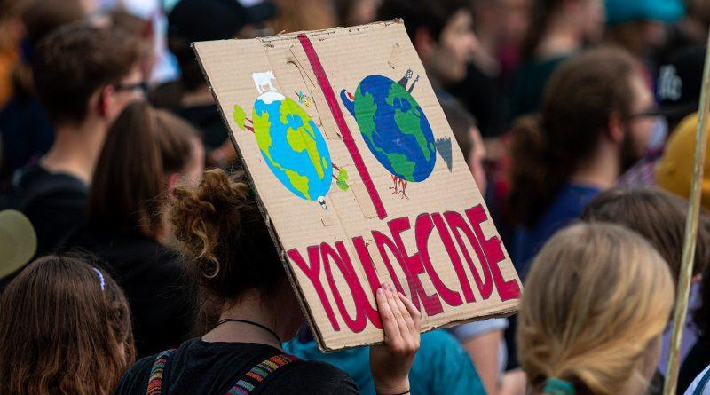 Demonstration für das Klima